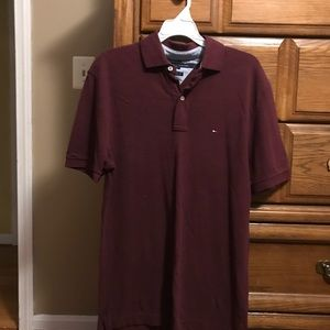 NWOT Tommy Hilfiger cranberry color polo
